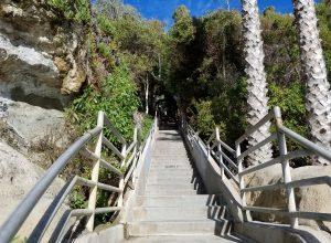steps leading down to thousand steps beach photos in laguna beach